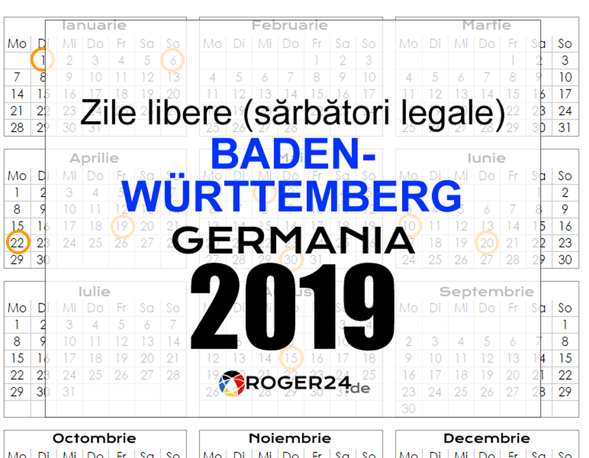 Zile libere in germania 2020
