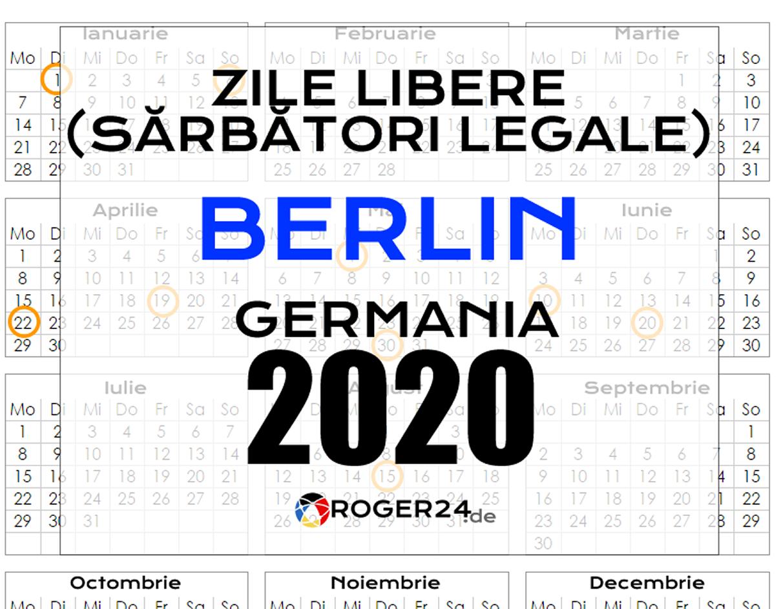 21 Mai sarbatoare 2020